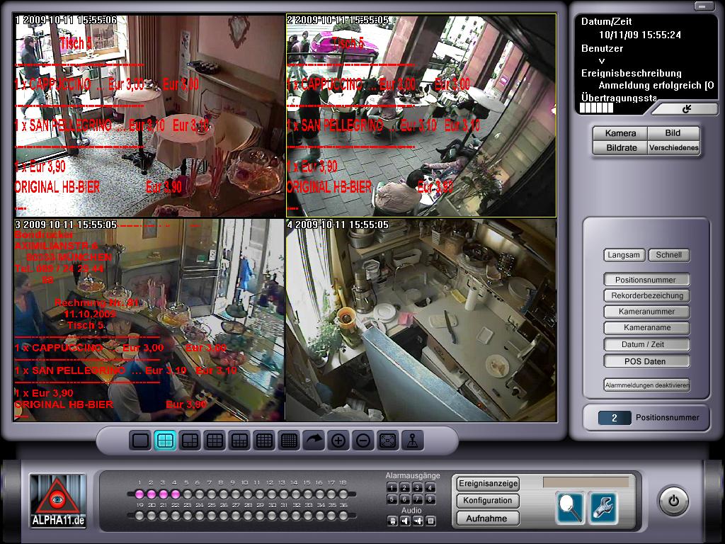 Livebild von Kassendaten
