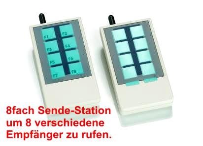 Rufstation mit 8 verschiedenen Rufknöpfen