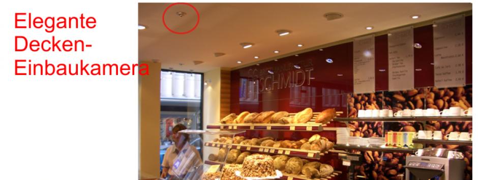 Moderne Einbaukameras in der Bäckerei