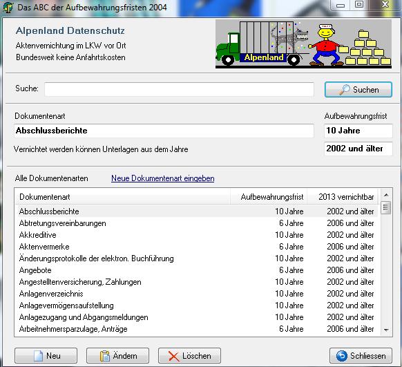 Datenschutz Fristensoftware Alpha11